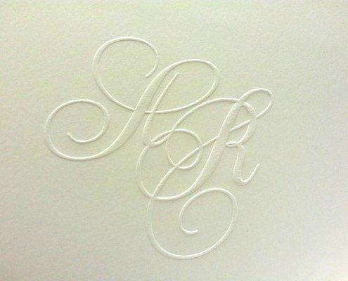 Hochzeitskarten Logo Prägung