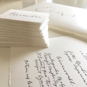 Hochzeitskarten Büttenpapier Kalligraphie Düsseldorf