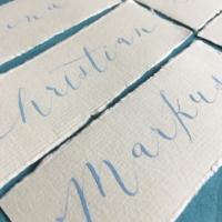 Tischkarten, Handschrift, Kalligraphie, Hochzeitspapeterie Büttenpapier