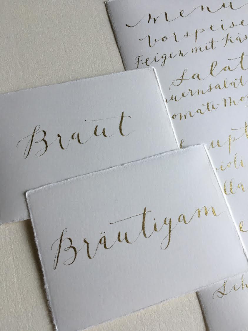 Hochzeitskarten Kalligraphie Düsseldorf