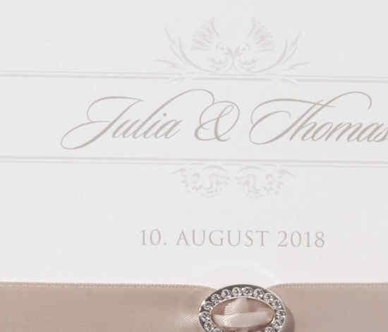 Einladungskarte, zurückhaltendes Design, romantische Vintage-Stil, Hochzeitskarten Design