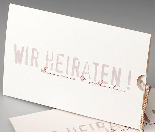 Pocketkarte zum Herausziehen, Schimmerkarton, Edeldesign, hochwertige Hochzeitspapeterie