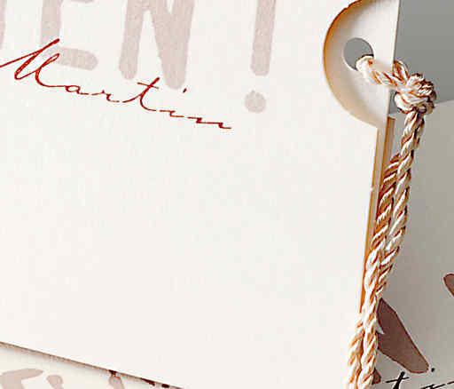 Pocketkarte zum Herausziehen, Schreibschrift, Schimmerkarton, hochzeitskarten drucken