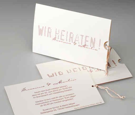 Hochzeitskarte, Schimmerkarton, Edeldesign, Frese Druckerei
