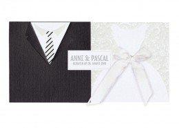 """moderne Hochzeitskarte """"Braut & Bräutigam"""", Hochzeitskarten Luxus"""