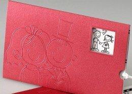 """""""Filmkarte Comic-Brautpaar"""", Nahansicht, Hochzeitskarten Comic"""