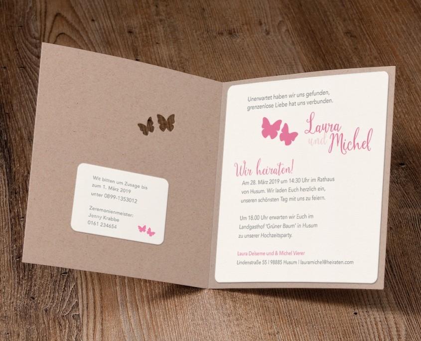 Hochzeitskarte, Schmetterlinge, Liebe und Hoffnung, Hochzeitskarten kreativ