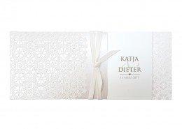 Elegante Einsteckkarte mit feinen Design-Elementen, Hochzeitspapeterie Muster
