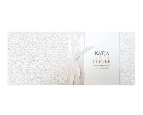 Elegante Einsteckkarte mit feinen Design-Elementen, hochzeitskarten umschläge