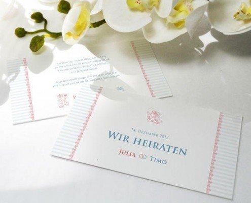 """Beispielkarte, Einladung """"Shabby Chic"""", Strukturkarton, Hochzeitspapeterie Erfahrungen"""