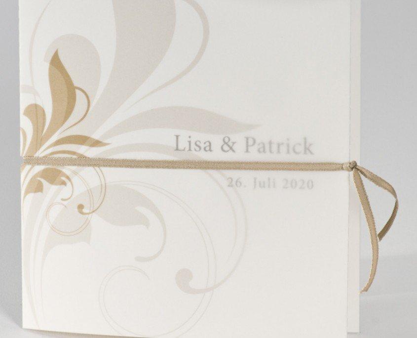 schöne Hochzeitskarte, Edelkarton, hochwertiges Transparent, Hochzeitspapeterie Transparent