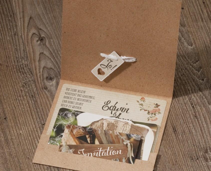 Einladung Country-Love, Einsteckkarten, Hochzeitskarten Einladung