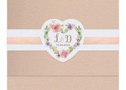 Hochzeitskarte, florales Vintage-Design, Hochzeitskarten Vintage