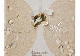 elegante Klappkarte, Transparent, Heißfoliendruck, Hochzeitspapeterie transparent