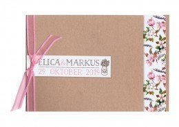 Hochzeitskarte Sommer, Blumen, Rose, Satinband, Karton, Hochzeitskarten Cartoo