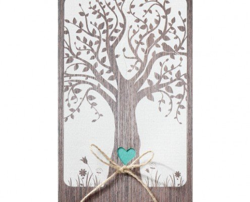 Hochzeitskarte Baumkrone mit Vögeln, Liebe zur Natur, Hochzeitskarten bestellen Deutschland