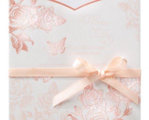 """schöne Einladungskarte """"Rosen und Schmetterlinge"""", Hochzeitskarten rosemood"""