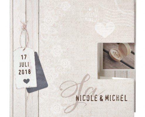 quadratische Hochzeitskarte, Zick-Zack-Falz, kreative Hochzeitskarten