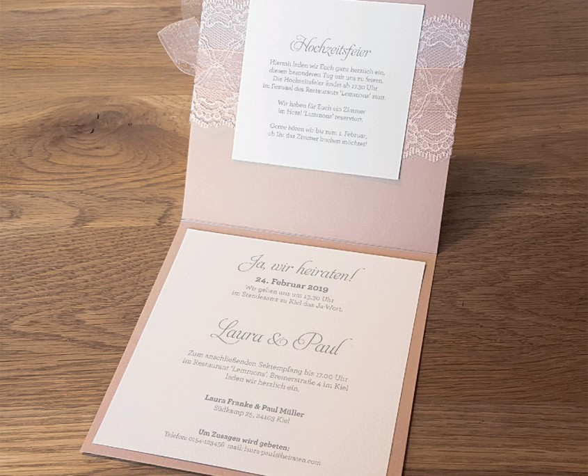 Rosa Frese Hochzeitskarten Dusseldorf