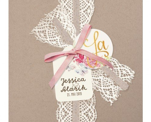 Ein Kunstwerk aus Schleifen und Bändern, Hochzeitskarten Design