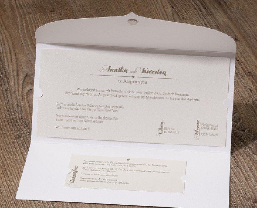 Hochzeitskarte, klassisch, magnetisch, hochzeitskarten innentext