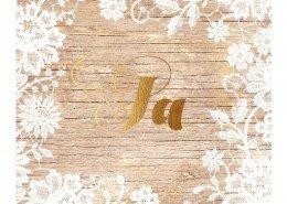 """Hochzeitskarte, exklusiv, goldenes """"Ja"""", Hochzeitskarten gold"""