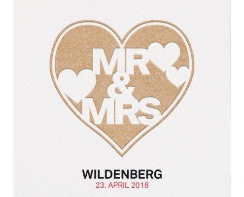 idyllische Hochzeitskarte, ausdrucksstarkes Design, Hochzeitspapeterie rustikal