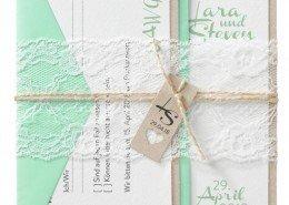 Hochzeitskarte, hochwertiger Strukturkarton, klassische Spitze, Angebot Hochzeitspapeterie