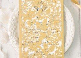 strahlende Hochzeitskarte, majestätischer Garten, Eleganz, Hochzeitskarten Paradies