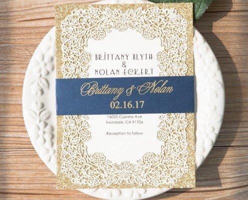 royale Einladung, Laser-Cut, Heißfoliendruck, Hochzeitskarten ausgefallen