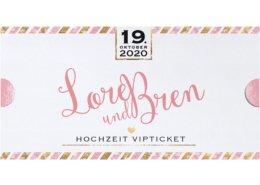 Luxuriöse Hochzeitseinladung in Form einer kleinen Mappe mit VIP Tickets, Hochzeitskarten Reise