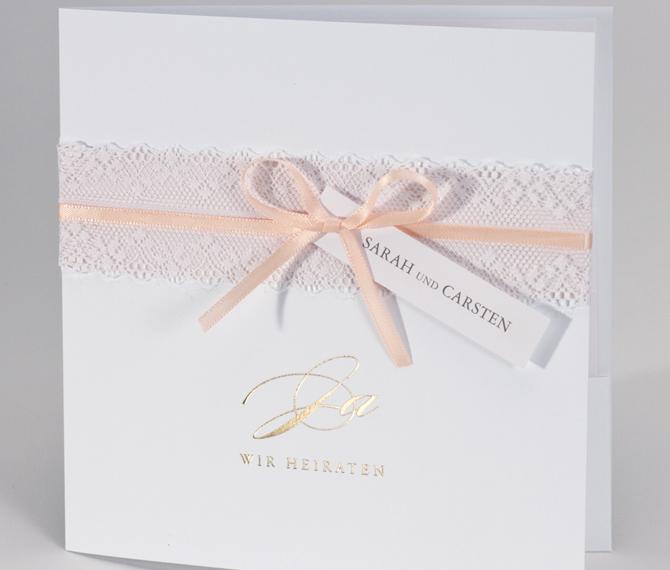Spitze Edle Hochzeitskarten Einladungskarten Druckerei Hochzeit Druck