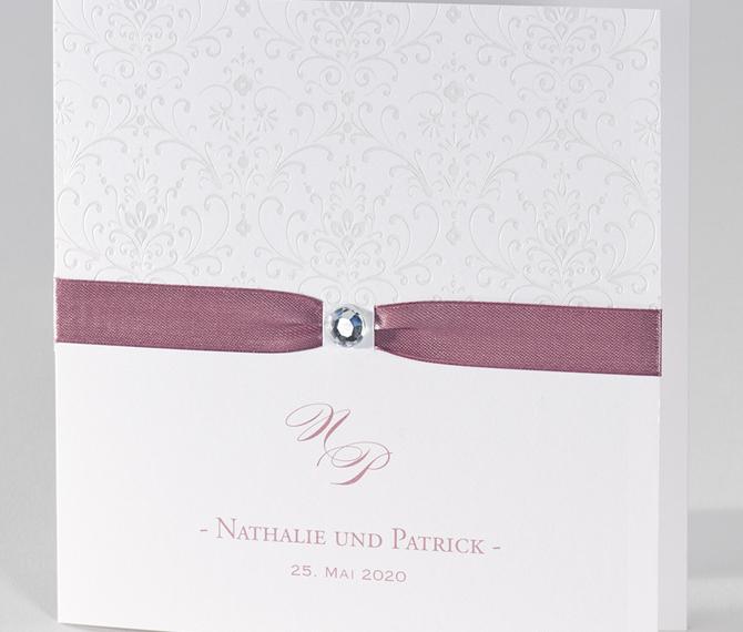 Elegante Hochzeitskarte Ornamente Rose Frese Hochzeitskarten