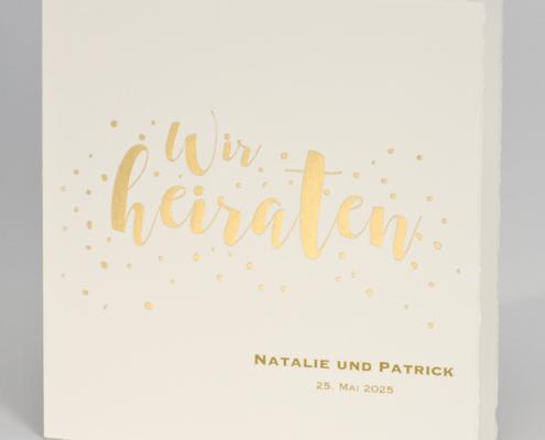 klassische Hochzeitskarte, Büttenkarton, exklusive Veredelung, hochzeitskarten papeterie