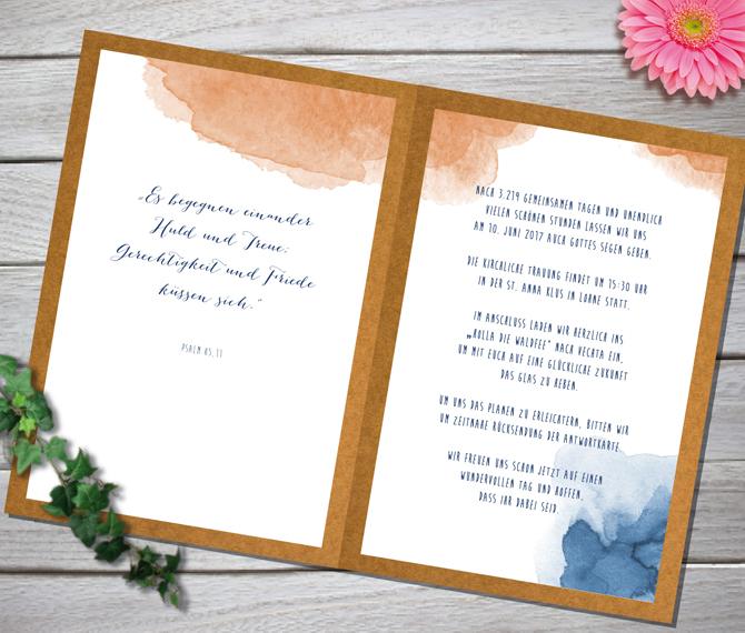 Einladung, Hochzeit, Aquarell-Kunst, Kalligraphie, Hochzeitskarten Cartoon