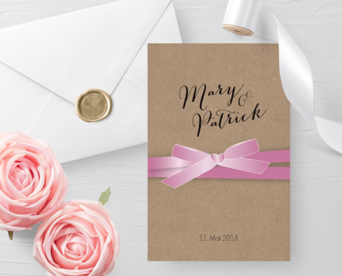 """""""Mister and Misses"""" – Romantische Retroeinladungen auf Kraftkarton, hochzeitskarten kreativ"""
