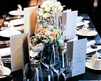 Hochzeitspapeterie Tischdekoration