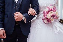 Braut Bräutigam Hochzeit Blumen