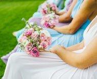 Brautjungfern Blumen Hochzeit Rosa