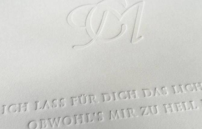 Buchdruck, Letterpress, Hochzeitspapeterie