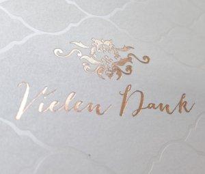 Foliendruck Hochzeitskarte