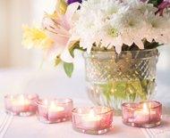 Blumen Hochzeit Rosa Kerzen