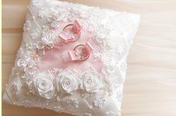 Kissen rosa Rosen
