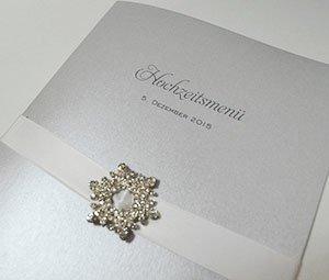 Hochzeit Menükarte Glanz Edel