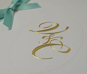Monogramm, Initialen, Hochzeitspapeterie edel