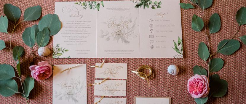 Schloss Hochzeit Blumen Hochzeitspapeterie