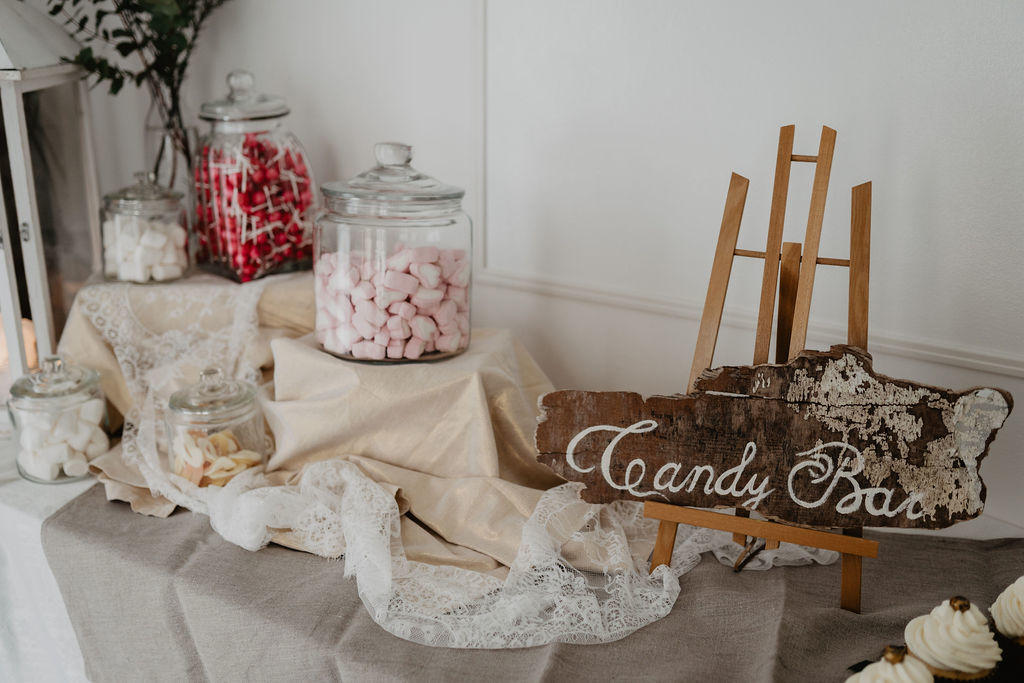 Candy Bar Vintage Holz