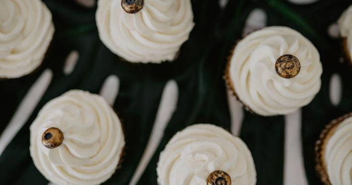 Cupcakes, Hochzeit, Gold Blaubeeren
