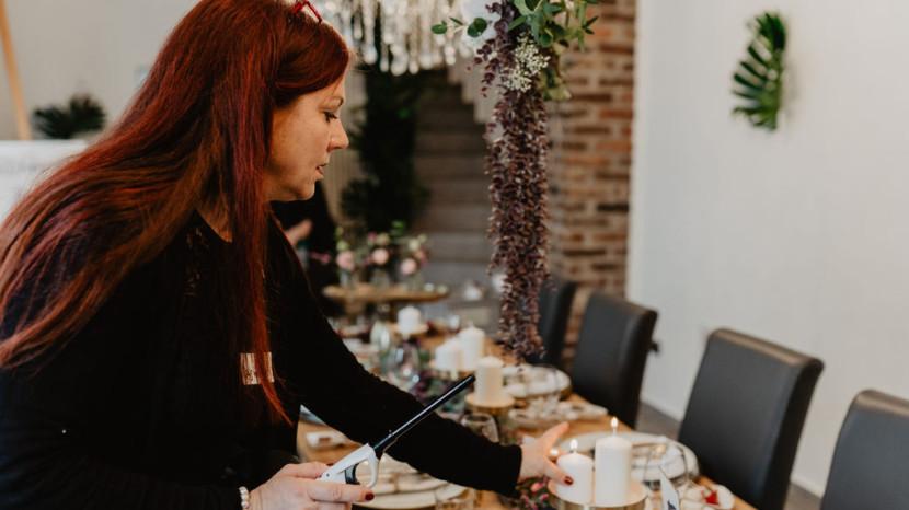 Hochzeitsplanung Vintage Tischdekoration