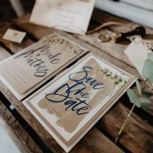 Save-the-Date Karte, Vintage, Hochzeit